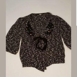 BKE Womens Cardigan Vintage Tag: Med Chic Boho